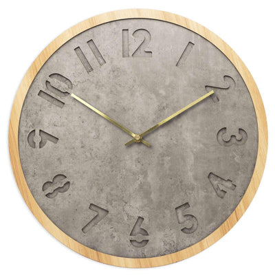 Toki Jordan Charcoal Grey Debossed Wall Clock 40cm 23030 1