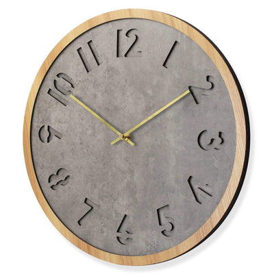 Toki Jordan Charcoal Grey Debossed Wall Clock 40cm 23030 2