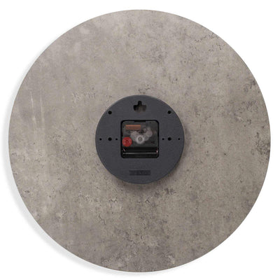 Toki Jordan Charcoal Grey Debossed Wall Clock 40cm 23030 3