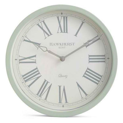 Toki Kent Wall Clock Sage Green 30cm Front MS0002