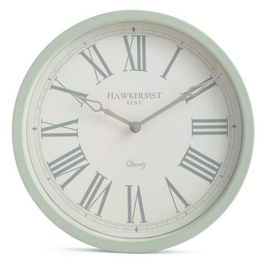 Toki Kent Wall Clock Sage Green 30cm Angle MS0002