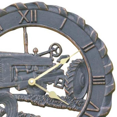 Tractor Cast Aluminium Outdoor Wall Clock 38cm ICR-R12 Top