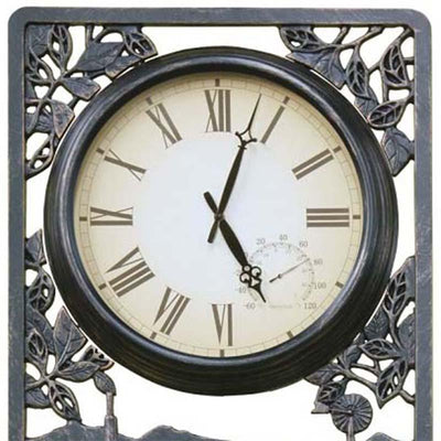 Tractor Cast Aluminium Thermometer Outdoor Wall Clock Top 72cm CT-C13
