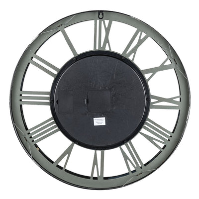 Transitional Mirrored Gears Wall Clock 54cm Back 42164