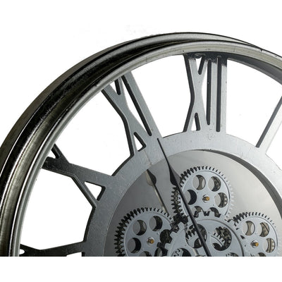 Transitional Mirrored Gears Wall Clock 54cm Top 42164