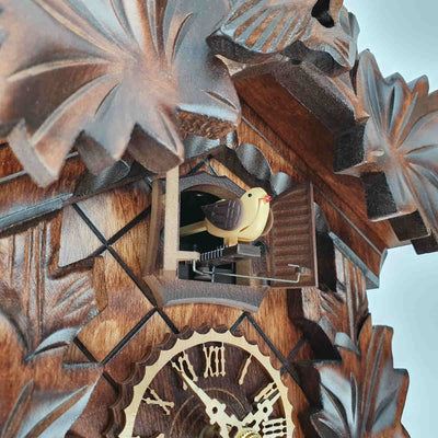 Trenkle Uhren Germany Bird Leaves Quartz Cuckoo Clock 22cm 412Q/22 10