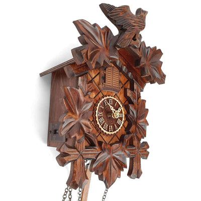 Trenkle Uhren Germany Bird Leaves Quartz Cuckoo Clock 22cm 412Q/22 3