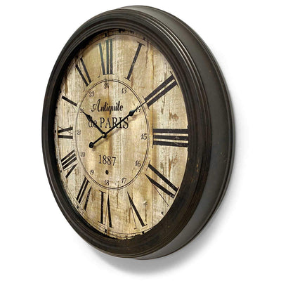 Victory Antique De Paris Distressed Vintage Metal Wall Clock 60cm CHH-344 2