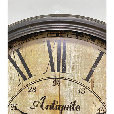 Victory Antique De Paris Distressed Vintage Metal Wall Clock 60cm CHH-344 3
