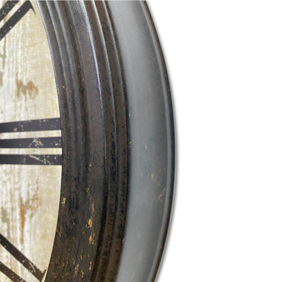 Victory Antique De Paris Distressed Vintage Metal Wall Clock 60cm CHH-344 4