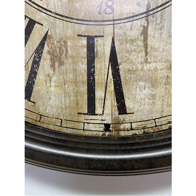 Victory Antique De Paris Distressed Vintage Metal Wall Clock 60cm CHH-344 5