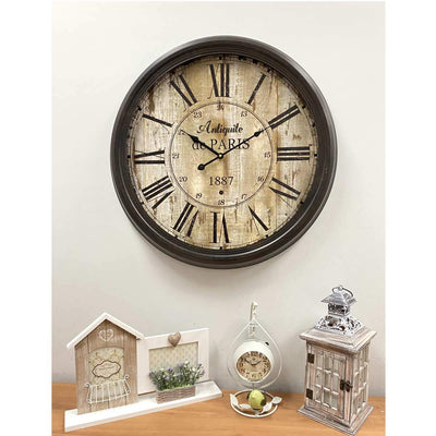 Victory Antique De Paris Distressed Vintage Metal Wall Clock 60cm CHH-344 6