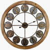 Victory Aramis Floating Roman Discs Metal Wood Wall Clock 80cm CEW 1907 2