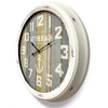 Victory At The Beach Extra Large Vintage Metal Wall Clock White 62cm CHH 322 1