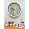 Victory At The Beach Extra Large Vintage Metal Wall Clock White 62cm CHH 322 5