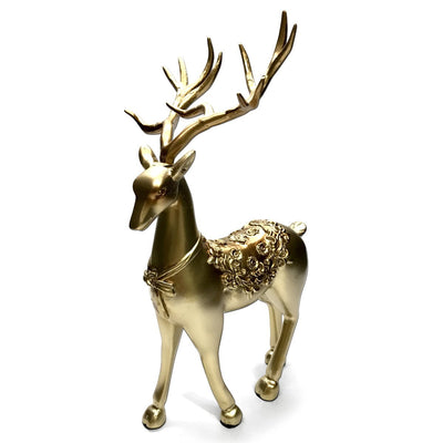 Victory Azalea Ornate Copper and Resin Deer Desk Clock Gold 29cm TSS-1591G 16
