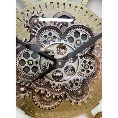 Victory Dionysus Metal Moving Gears Wall Clock 59cm CCM-1733 7