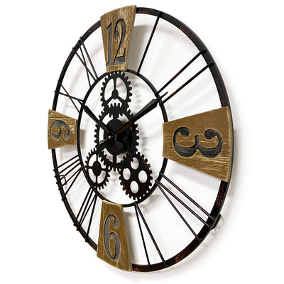 Victory Hendrix Metal and Wood Gears Wall Clock 60cm CHH-883 2