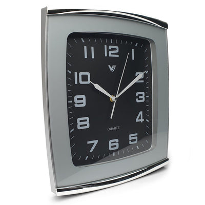 Victory Jaxon Curved Rectangle Wall Clock Black 34cm CWH 260Black 1