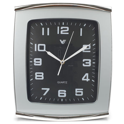Victory Jaxon Curved Rectangle Wall Clock Black 34cm CWH 260Black 3
