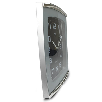 Victory Jaxon Curved Rectangle Wall Clock Black 34cm CWH 260Black 4