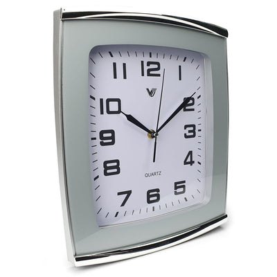 Victory Jaxon Curved Rectangle Wall Clock White 34cm CWH 260White 1