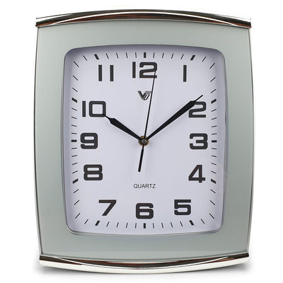 Victory Jaxon Curved Rectangle Wall Clock White 34cm CWH 260White 3