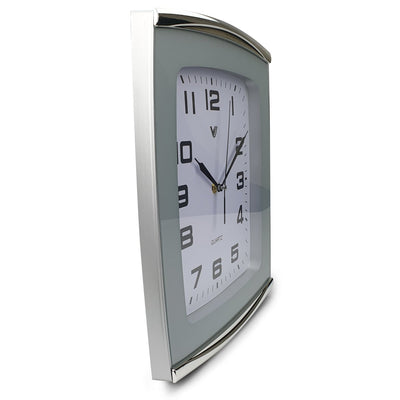 Victory Jaxon Curved Rectangle Wall Clock White 34cm CWH 260White 4
