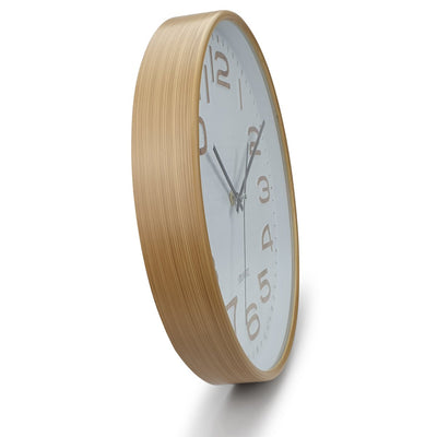 Victory Julian Waffle Pattern Wall Clock Brown 30cm CWH 6295 4