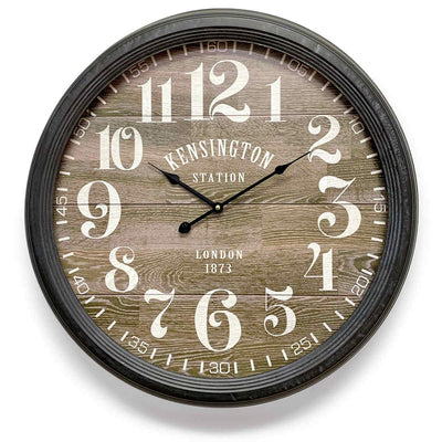 Victory Kensington Station London Metal Wall Clock 60cm CHH-311 1