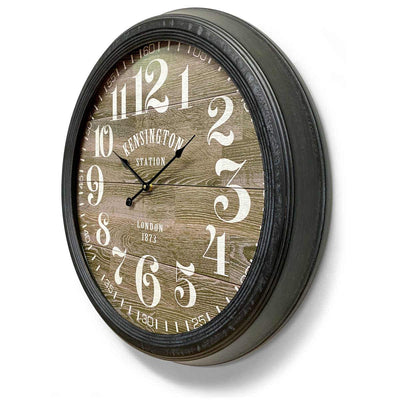 Victory Kensington Station London Metal Wall Clock 60cm CHH-311 2