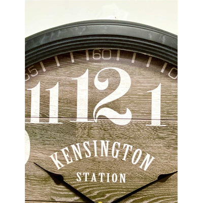 Victory Kensington Station London Metal Wall Clock 60cm CHH-311 5