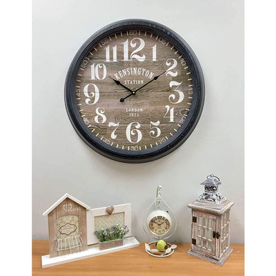 Victory Kensington Station London Metal Wall Clock 60cm CHH-311 6