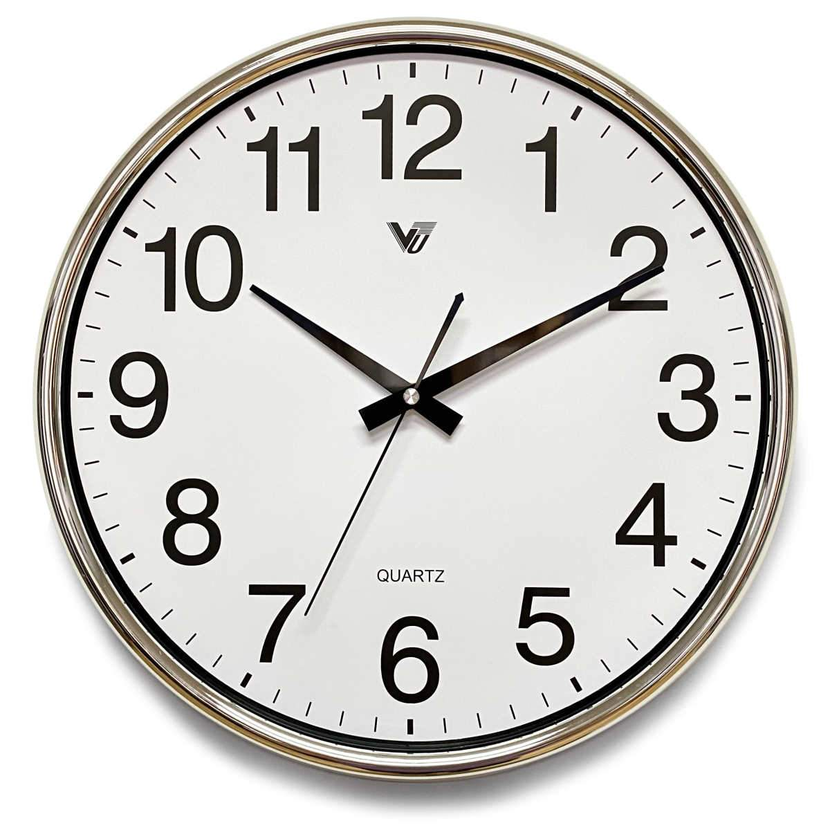 Victory Koen Domed Face Wall Clock Silver 38cm CCJ-2515S 1