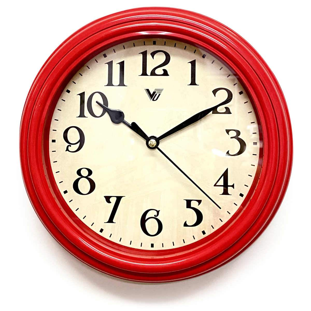 Victory Leila Vintage Print Wall Clock Red 22cm CJH-5155-RED 1