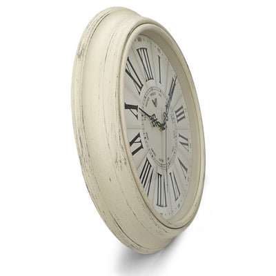 Victory Paisley Vintage Roman Wall Clock Cream 40cm CWH 6195White 4