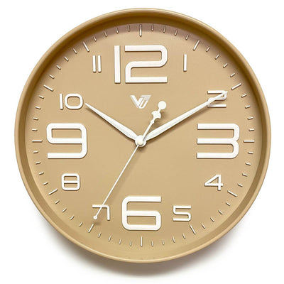 Victory Piper 3D Art Numbers Wall Clock Tan 30cm CJH-6450-CRE 1