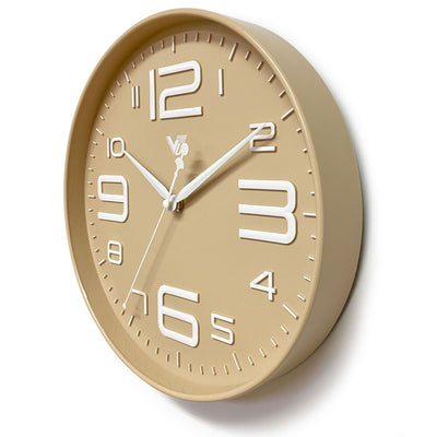 Victory Piper 3D Art Numbers Wall Clock Tan 30cm CJH-6450-CRE 2