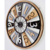 Victory Porthos Floating Roman Panels Metal Wood Wall Clock 80cm CEW 1906 1