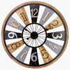 Victory Porthos Floating Roman Panels Metal Wood Wall Clock 80cm CEW 1906 2