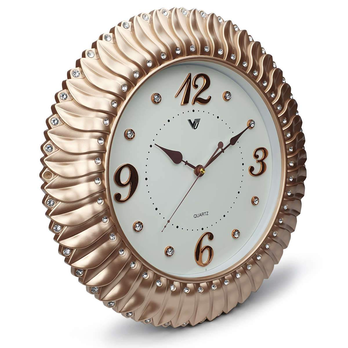 Victory Savannah Bling Wall Clock Gold 45cm CXB 2928G 1