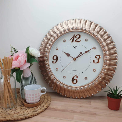 Victory Savannah Bling Wall Clock Gold 45cm CXB 2928G 2