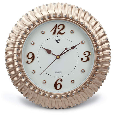 Victory Savannah Bling Wall Clock Gold 45cm CXB 2928G 3