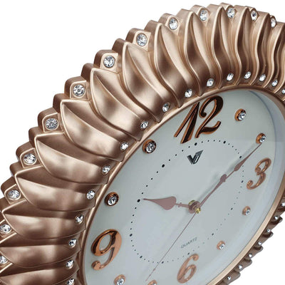 Victory Savannah Bling Wall Clock Gold 45cm CXB 2928G 5