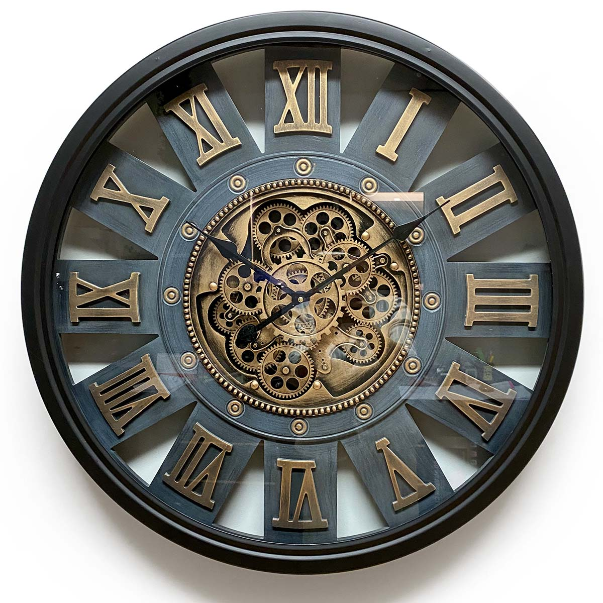Themis Metal Moving Gears Wall Clock, 72cm