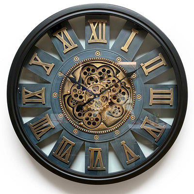 Victory Themis Metal Moving Gears Wall Clock 72cm CCM-1722 1