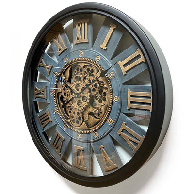 Victory Themis Metal Moving Gears Wall Clock 72cm CCM-1722 2