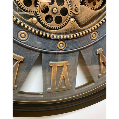 Victory Themis Metal Moving Gears Wall Clock 72cm CCM-1722 4