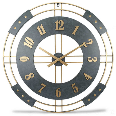 Victory Athos Bold Metal Wall Clock 80cm CEW-1905 Front