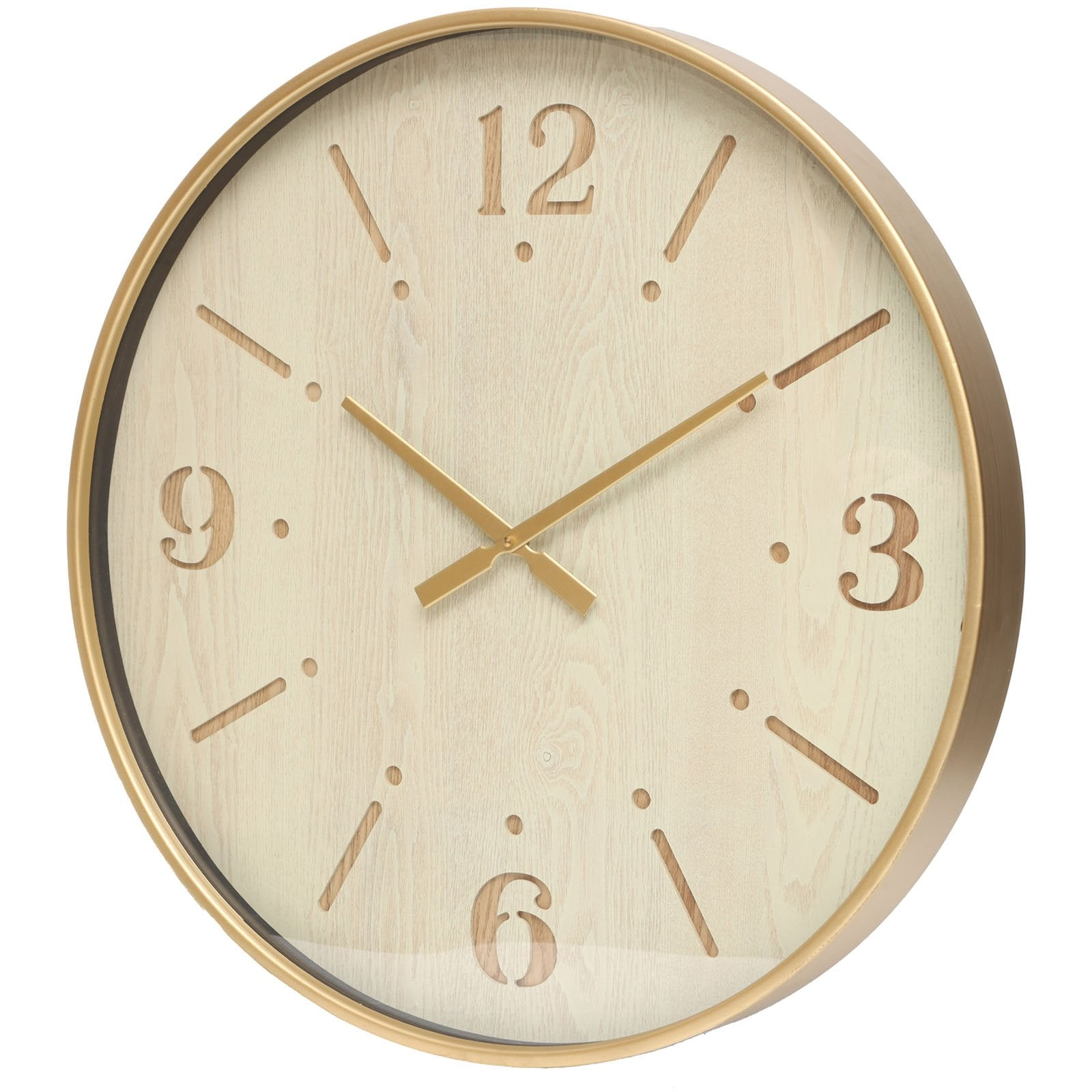 Yearn Aura Distressed Gold Metal Wall Clock 60cm 11731CLK 1